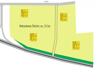 Lageplan Gewerbegebiet am Sandberg