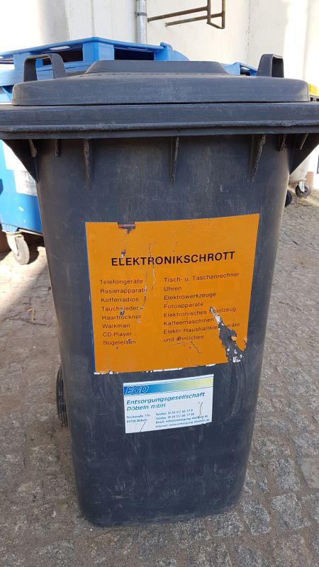 Elektroschrott Baubetriebshof