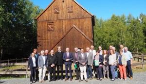 Staatsminister Thomas Schmidt und Landrat Matthias Damm zu Besuch im Klosterbezirk Altzella