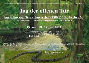 """Tag der offenen Tür Aquarien- und Terrarienverein """"OSIRIS"""" Roßwein e.V."""