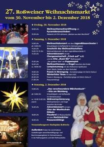 27. Roßweiner Weihnachtsmarkt vom 30. November bis 02. Dezember 2018