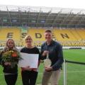Stadiontour und Riesenmedaille für sportlichen Einsatz