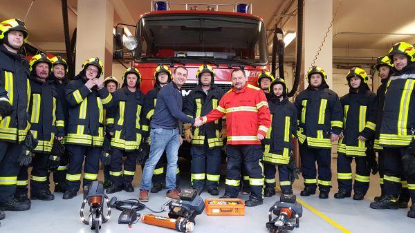 Feuerwehr Roßwein erhält neue Technik